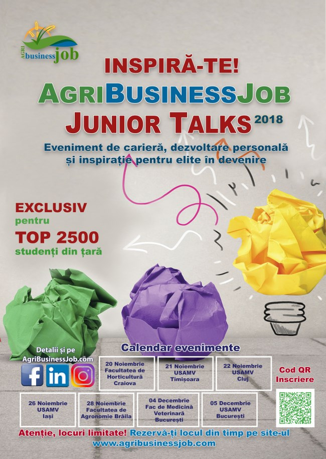 Junior talks - calendar 2018